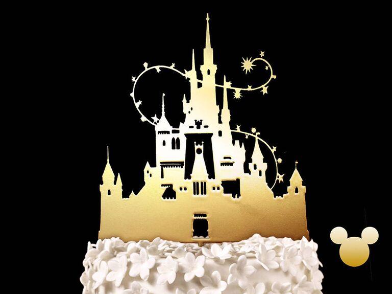 Gold Cinderella's castle