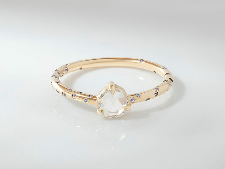 rosey west rose cut diamond engagement ring