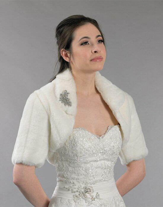 Tulip Bridal Ivory Faux Fur Bolero Jacket Wedding Jackets photo