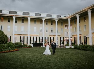 """Describing the décor as """"modern romance meets the beach,"""" Tarrah Amato (33 and a director of digital marketing and media) and John Forte (35 and an at"""