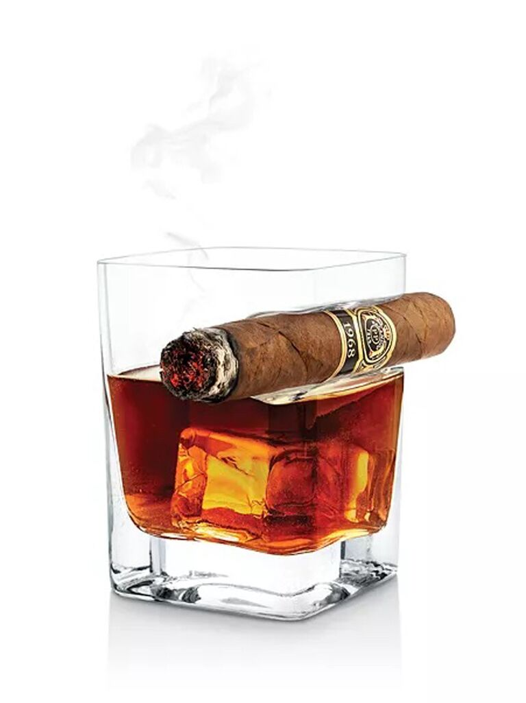 bloomingdales corkcicle cigar glass for bachelor party favors