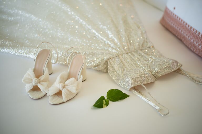 ally love wedding dress and shoes