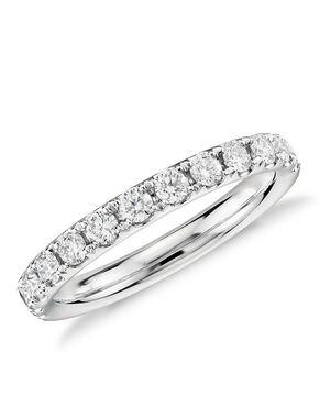 Blue Nile 53022 White Gold Wedding Ring