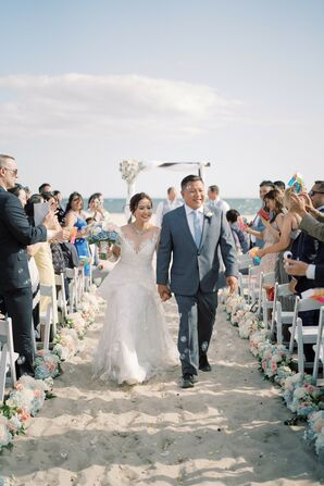 Ceremony Recessional at Wychmere Beach Club in Harwich Port, Massachusetts