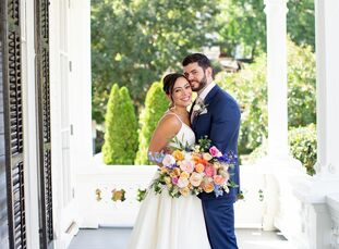 """At first, Diana and Steve were focused on throwing an elegant Southern wedding befitting their venue, an 1876 mansion. """"But as we continued to plan, t"""