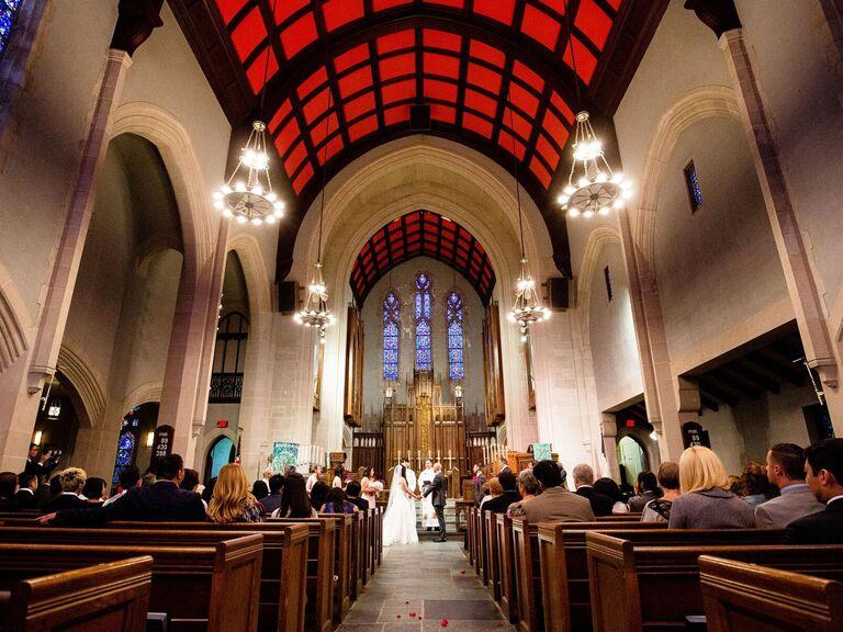 Methodist wedding ceremony.