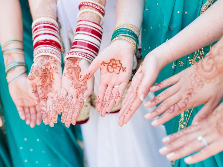 Wedding party henna tattoos