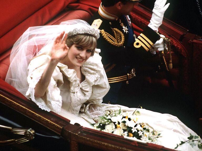Princess Diana on her wedding day
