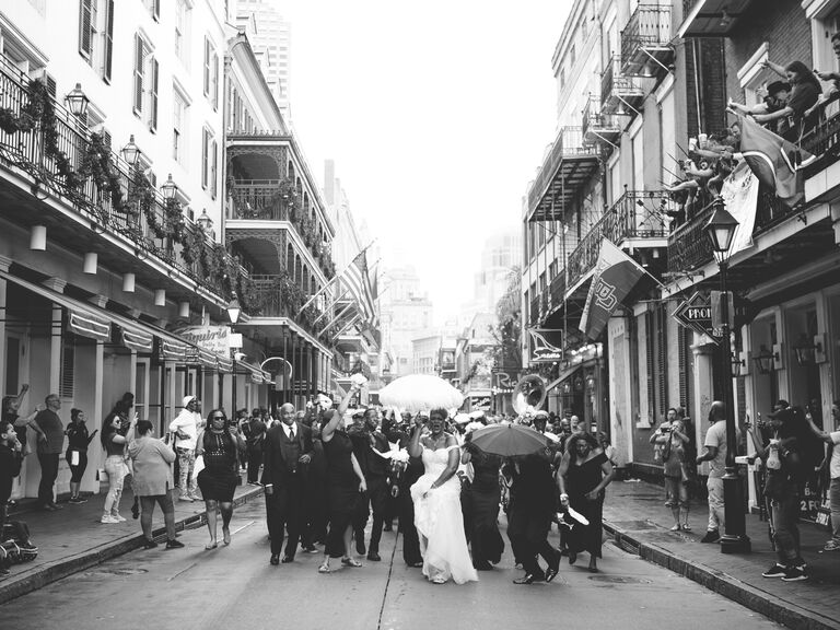 Second line in New Orleans