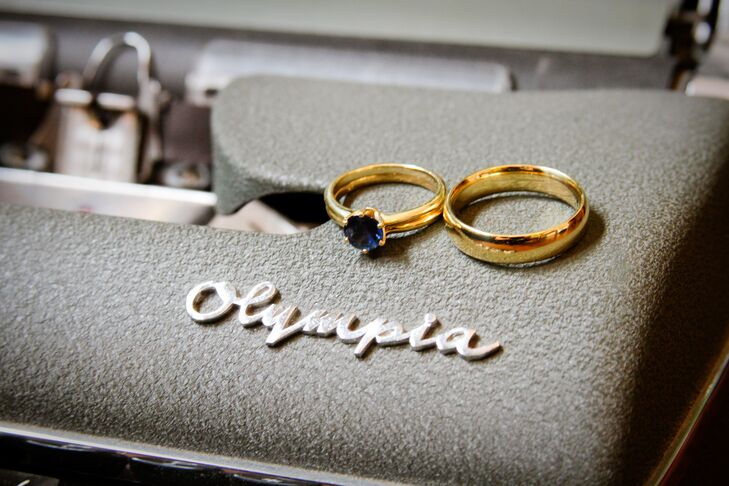 Sapphire Ring Set in Gold Band