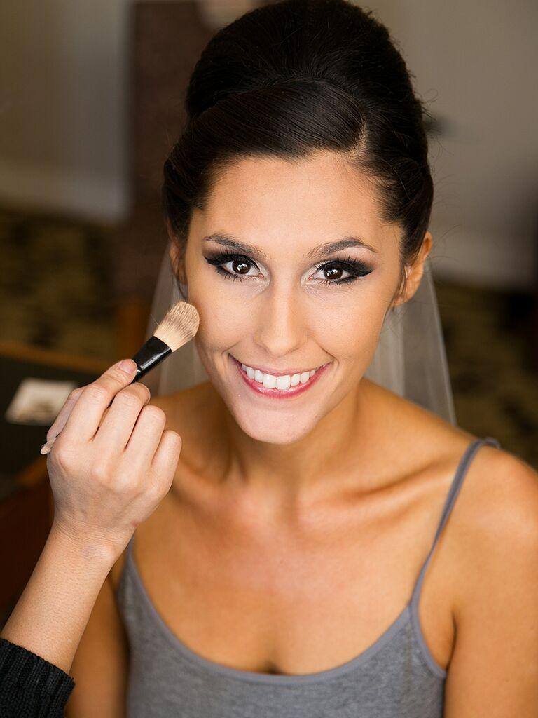 Bold bridal eye makeup