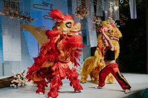 Lion Dancers at Wedding in Zhangjiajie, China