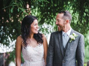 In the days before StephanieHernandez (31 and a booking agent) and KyleGriffith's (34 and an archaeologist)rustic wedding at the beautiful Green Mo