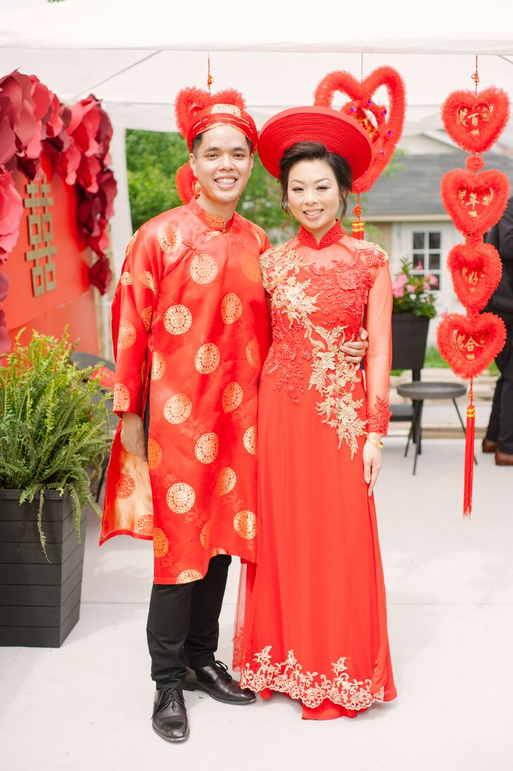 Melissa Hong and Sam Diep pulled off a polished boho bash for their spring wedding in Toronto that paid tribute to their Chinese and Vietnamese herita
