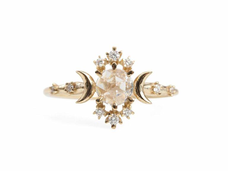 Sofia Zakia rose cut diamond engagement ring