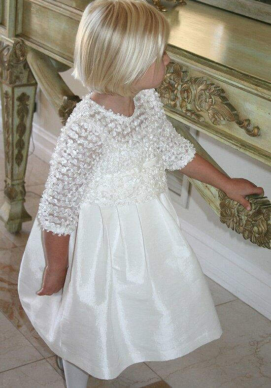 Isabel Garretón 3/4 Sleeve Flutter Flower Girl Dress photo