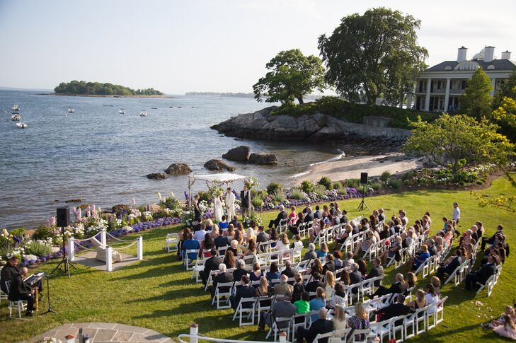 Belle Haven Club Waterfront Wedding Ceremony