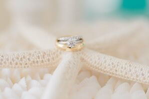 Diamond Solitaire Engagement Ring With Platinum Band