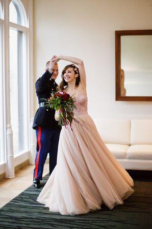 Blush Two-Piece Watters Wedding Dress