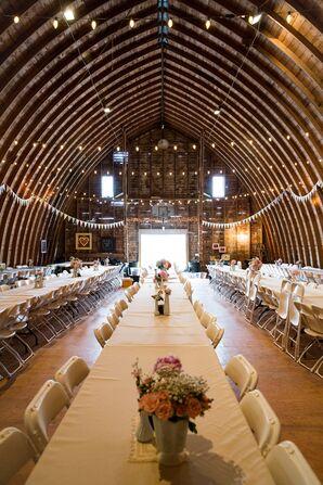 A Rustic Barn Wedding Reception in Minnesota