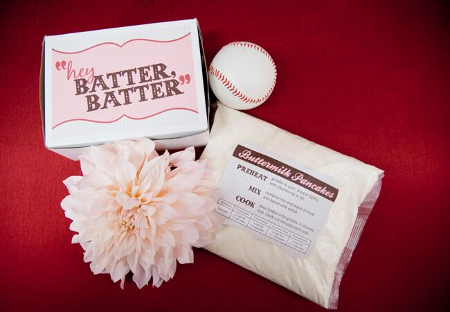'Batter Up' Pancake Mix Favors | John Schnack Studios | blog.theknot.com