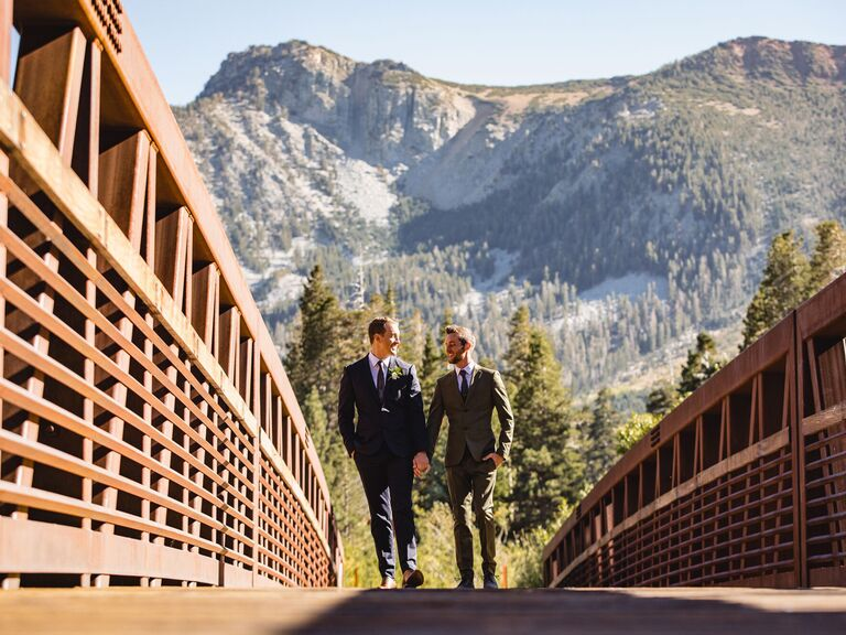 Mountain wedding venue in Mammoth Lakes, California.