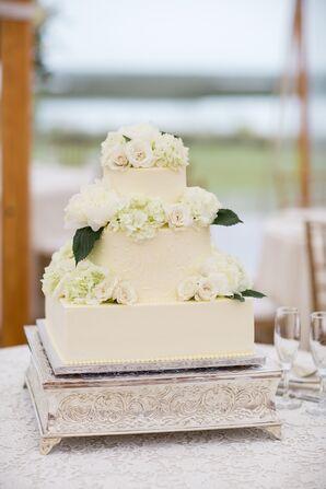 Three-Tiered Square Wedding Cake