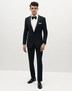 Suit Shop Men's Premium Shawl Lapel Black Tuxedo Black Tuxedo