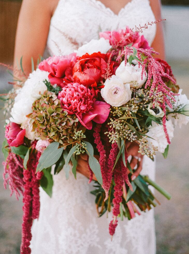"""Shannon Hough Events, the planner for the day, also helped craft Danika's floral arrangements. """"I was absolutely in love with my bouquet. I also love succulents, so the men wore those as boutonnieres, rather than the traditional rose,"""" Danika says."""