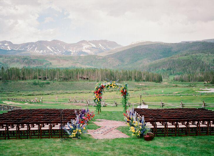 Ceremony Setup at Devil's Thumb Ranch in Tabernash, Colorado