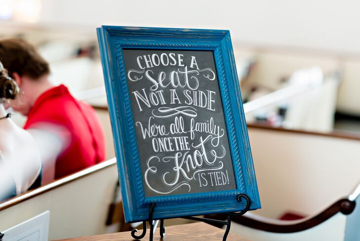 Whimsical Chalkboard Ceremony Welcome Sign