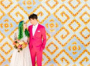 Missy (25 and a restaurant general manager) and Peter (28 and a mechanical design engineer) exchanged vows on a day few couples have access to—Leap Da