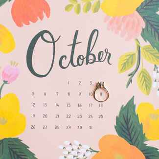 Ring on calendar