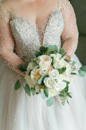 Rose and Eucalyptus Wedding Bouquet for Washington, DC Wedding