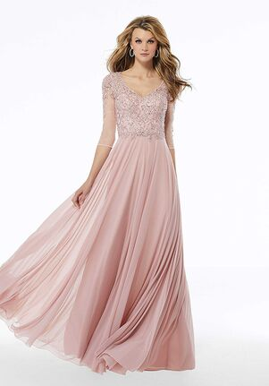 MGNY 72120 Pink,Blue Mother Of The Bride Dress