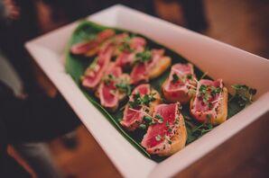 Seared-Tuna Crostini Passed Appetizers