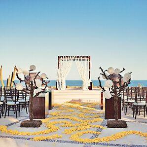 Beachside Ceremony Decor