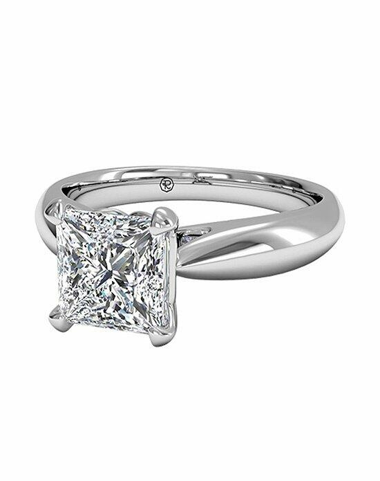 Ritani Princess Cut Solitaire Diamond Cathedral Tapered Engagement Ring in 18kt White Gold Engagement Ring photo