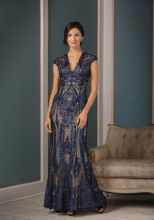 Jade Couture Mother of the Bride by Jasmine K188001 Blue,Brown Mother Of The Bride Dress