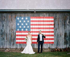 American Flag Wedding Portrait