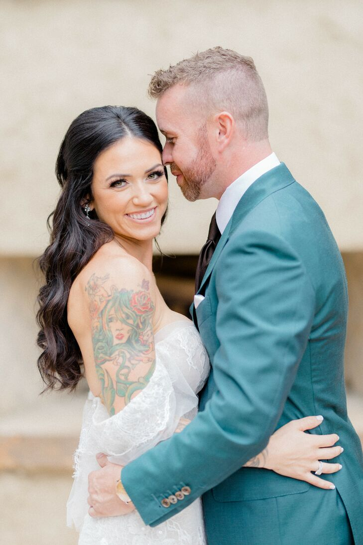When Trisha and Jeff had their holiday pictures taken at a romantic private estate with a European aesthetic, the couple realized the space would be t