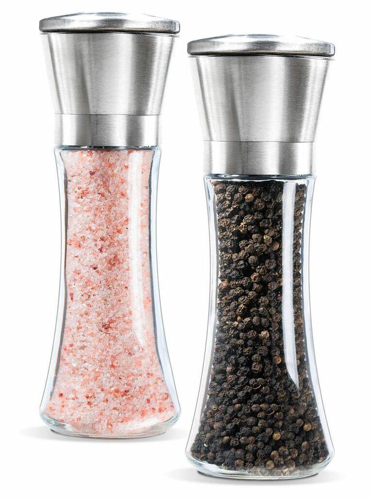 Levav premium salt and pepper grinder set Amazon wedding registry gift