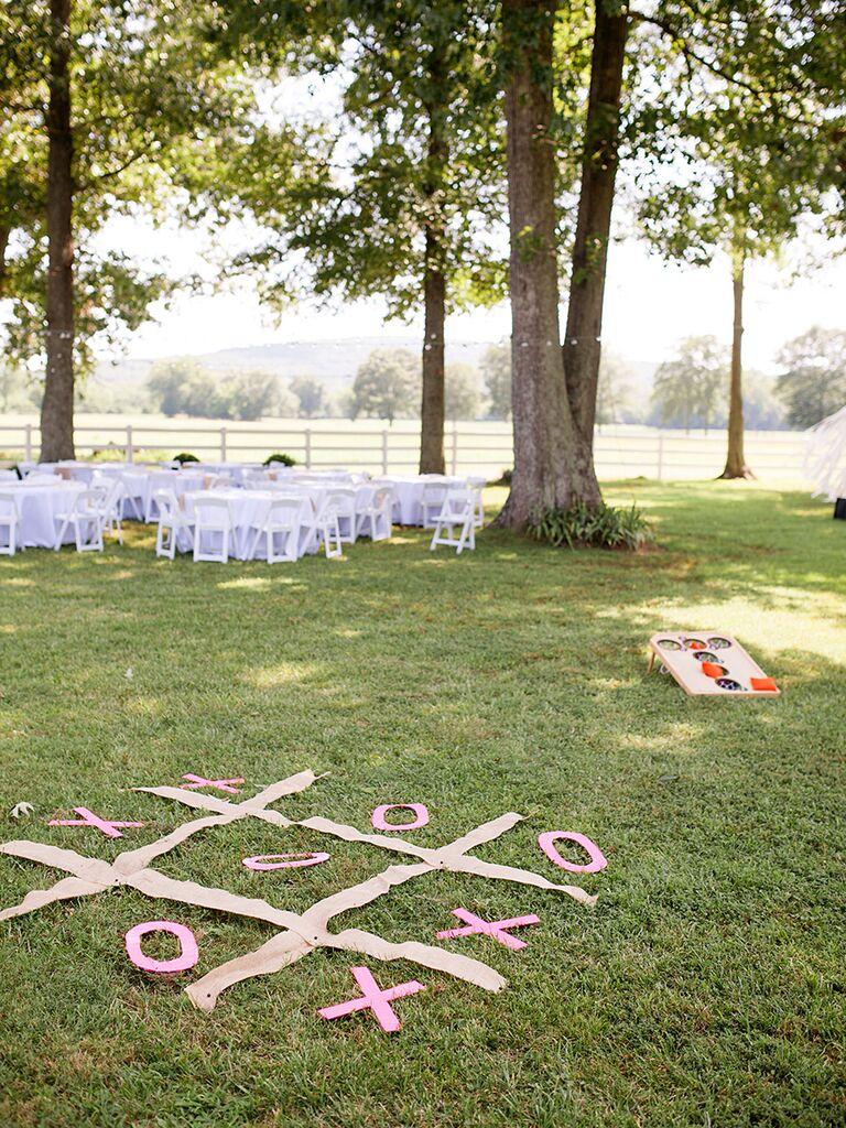 Lawn game idea for an outdoor wedding
