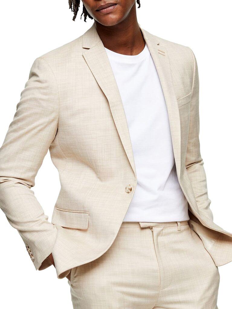 Stone suit jacket