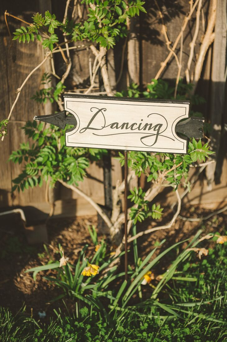 Wooden signs guided guests to each portion of the day's festivities scattered across the 57-acre estate.