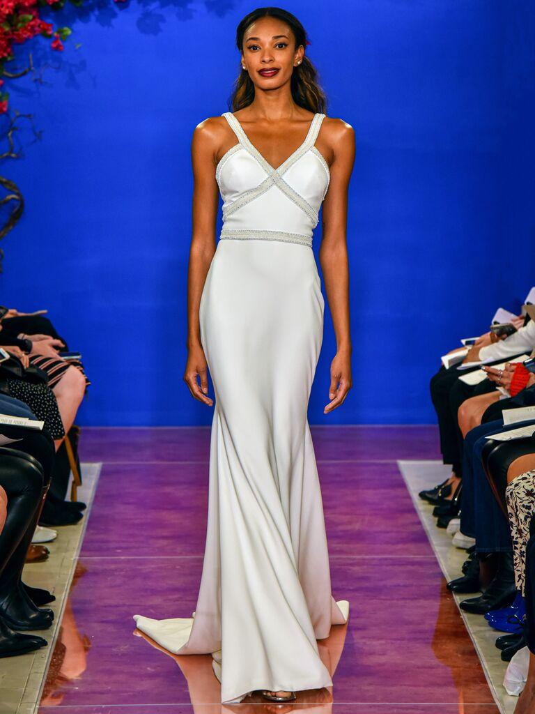 theia wedding dress v-neck