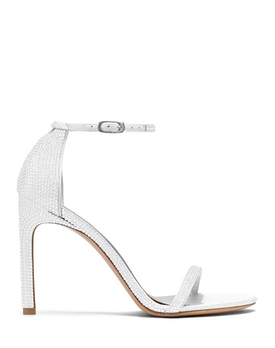 Stuart Weitzman Nudistsong Chalk White Pave  Crystals Wedding  photo
