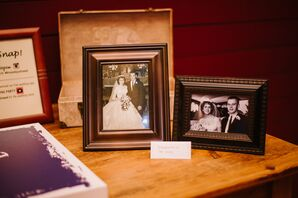 Heritage Table with Vintage Wedding Photos