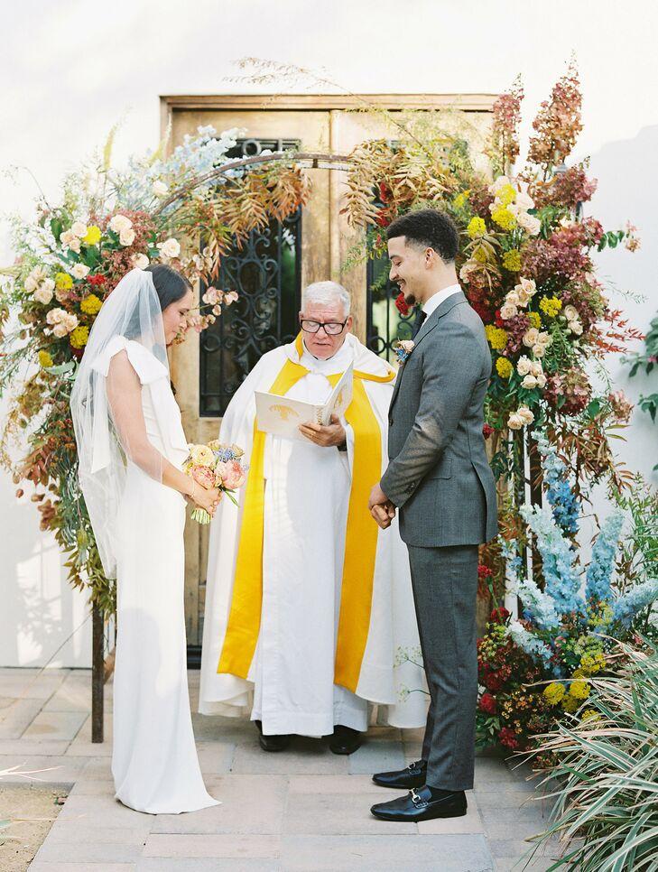Wedding Ceremony with Priest in Coachella, California