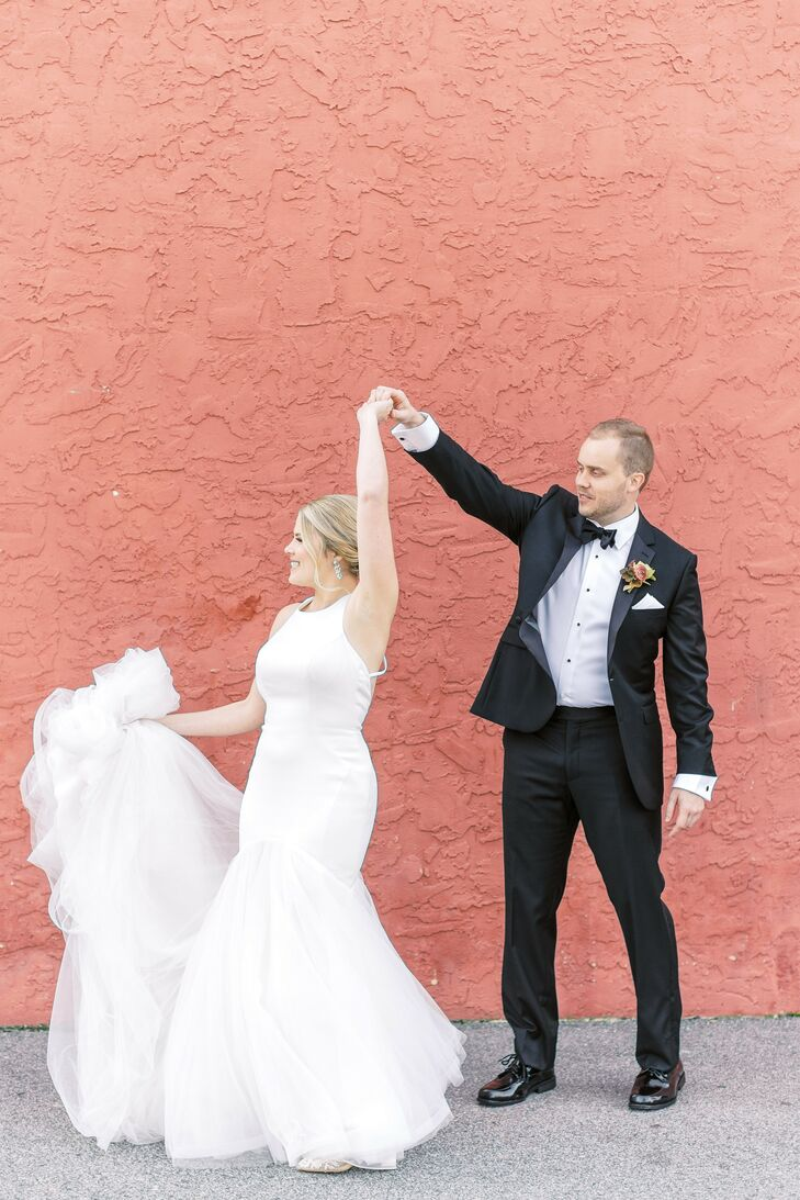 """""""I wanted my wedding to be fun and memorable... and that it was!"""" says Mandy of her and Colin's wedding at 701 Whaley in Columbia, South Carolina. Wit"""
